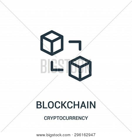 Blockchain Icon Isolated On White Background From Cryptocurrency Collection. Blockchain Icon Trendy