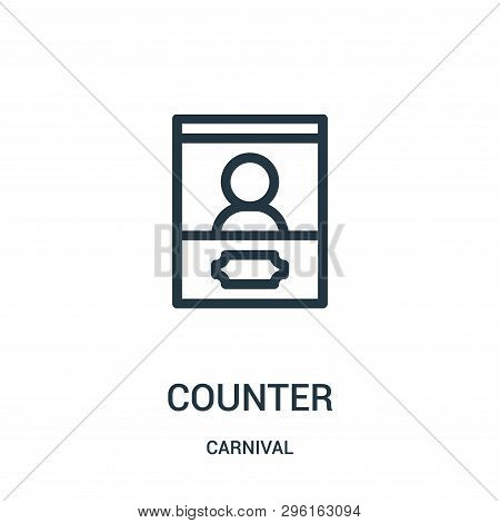 Counter Icon Isolated On White Background From Carnival Collection. Counter Icon Trendy And Modern C