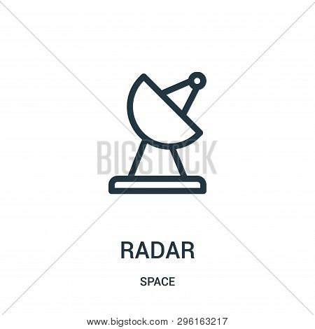 Radar Icon Isolated On White Background From Space Collection. Radar Icon Trendy And Modern Radar Sy