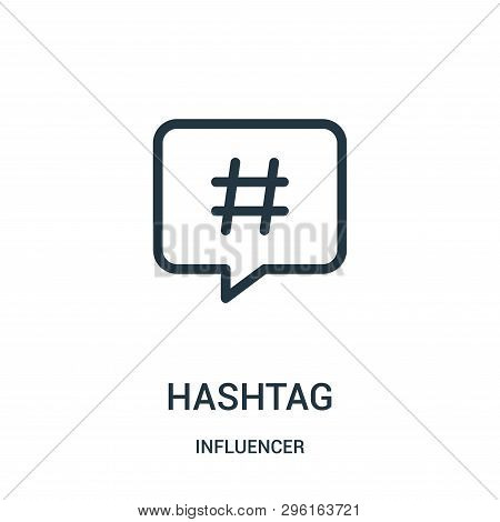 Hashtag Icon Isolated On White Background From Influencer Collection. Hashtag Icon Trendy And Modern