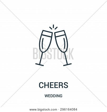 Cheers Icon Isolated On White Background From Wedding Collection. Cheers Icon Trendy And Modern Chee