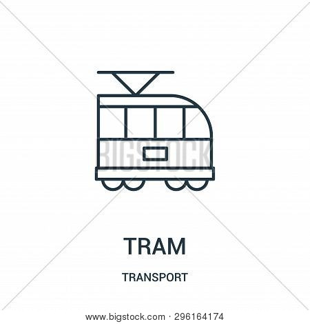 Tram Icon Isolated On White Background From Transport Collection. Tram Icon Trendy And Modern Tram S