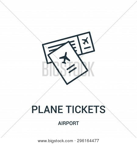 Plane Tickets Icon Isolated On White Background From Airport Collection. Plane Tickets Icon Trendy A