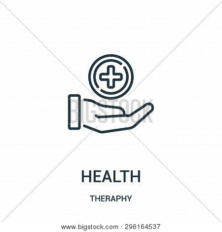 Health Icon Isolated On White Background From Theraphy Collection. Health Icon Trendy And Modern Hea