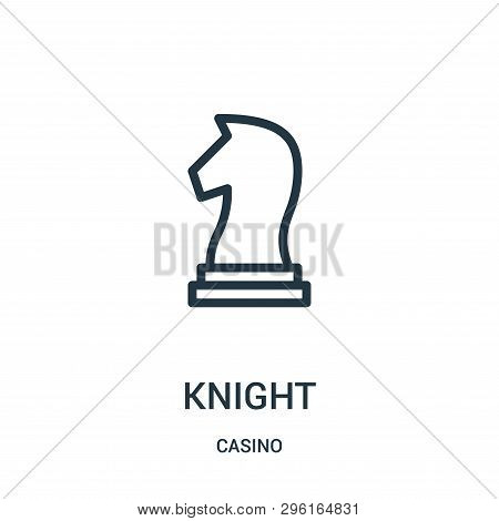 Knight Icon Isolated On White Background From Casino Collection. Knight Icon Trendy And Modern Knigh
