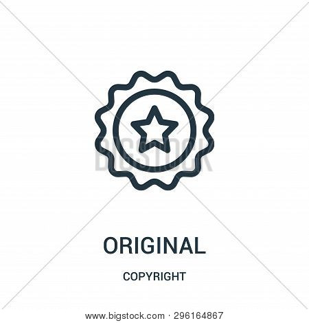 Original Icon Isolated On White Background From Copyright Collection. Original Icon Trendy And Moder