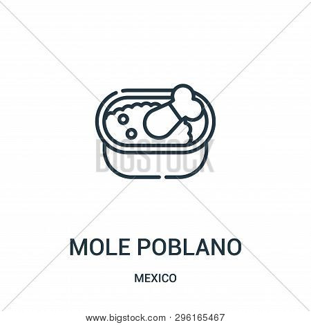 Mole Poblano Icon Isolated On White Background From Mexico Collection. Mole Poblano Icon Trendy And