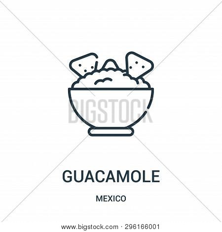 Guacamole Icon Isolated On White Background From Mexico Collection. Guacamole Icon Trendy And Modern