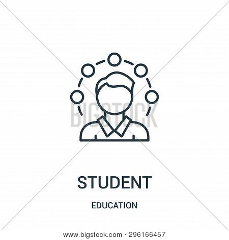 Student Icon Isolated On White Background From Education Collection. Student Icon Trendy And Modern