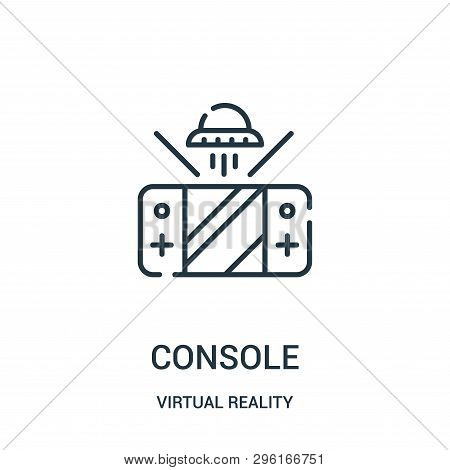 Console Icon Isolated On White Background From Virtual Reality Collection. Console Icon Trendy And M