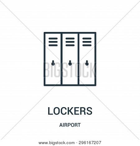Lockers Icon Isolated On White Background From Airport Collection. Lockers Icon Trendy And Modern Lo