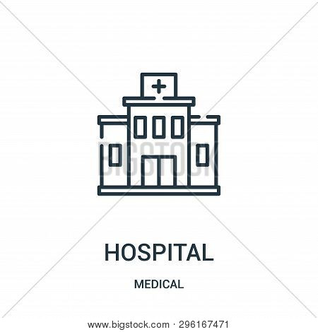Hospital Icon Isolated On White Background From Medical Collection. Hospital Icon Trendy And Modern