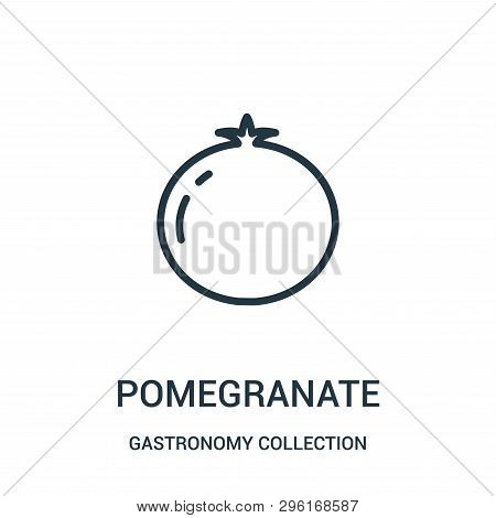 Pomegranate Icon Isolated On White Background From Gastronomy Collection. Pomegranate Icon Trendy An