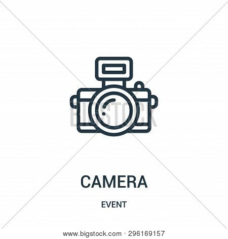 Camera Icon Isolated On White Background From Event Collection. Camera Icon Trendy And Modern Camera