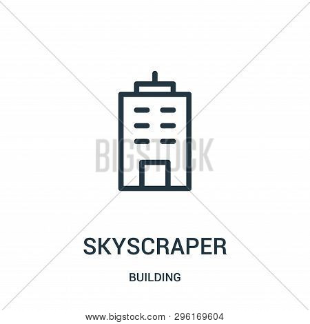 Skyscraper Icon Isolated On White Background From Building Collection. Skyscraper Icon Trendy And Mo