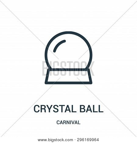 Crystal Ball Icon Isolated On White Background From Carnival Collection. Crystal Ball Icon Trendy An