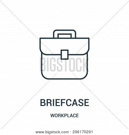 Briefcase Icon Isolated On White Background From Workplace Collection. Briefcase Icon Trendy And Mod