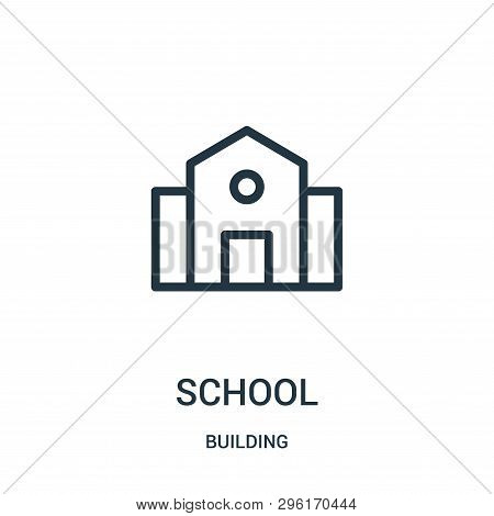 School Icon Isolated On White Background From Building Collection. School Icon Trendy And Modern Sch