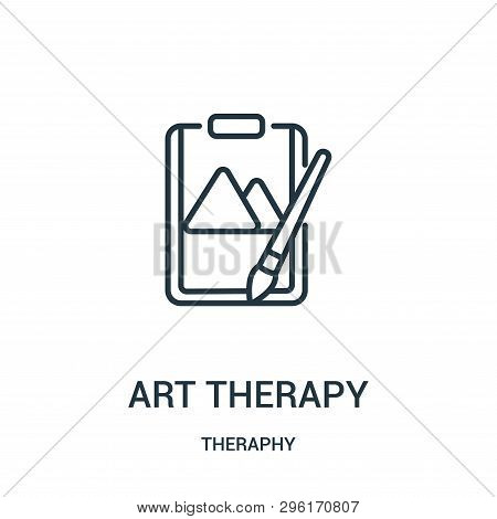 Art Therapy Icon Isolated On White Background From Theraphy Collection. Art Therapy Icon Trendy And