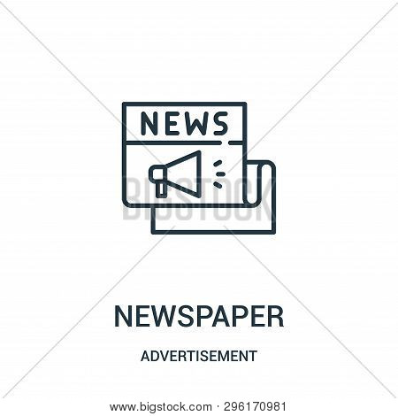 Newspaper Icon Isolated On White Background From Advertisement Collection. Newspaper Icon Trendy And