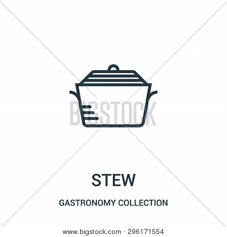 Stew Icon Isolated On White Background From Gastronomy Collection. Stew Icon Trendy And Modern Stew