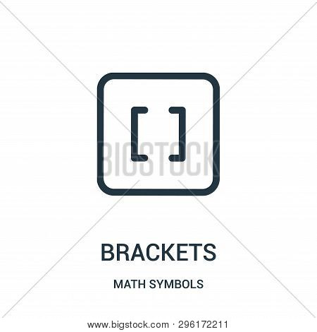 Brackets Icon Isolated On White Background From Math Symbols Collection. Brackets Icon Trendy And Mo