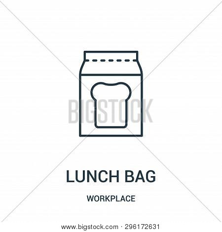 Lunch Bag Icon Isolated On White Background From Workplace Collection. Lunch Bag Icon Trendy And Mod