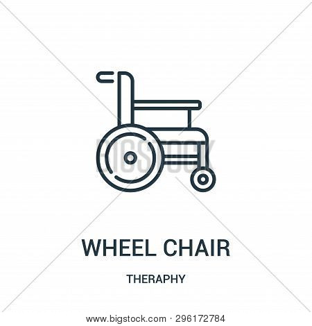 wheel chair icon isolated on white background from theraphy collection. wheel chair icon trendy and modern wheel chair symbol for logo, web, app, UI. wheel chair icon simple sign. wheel chair icon flat vector illustration for graphic and web design. poster