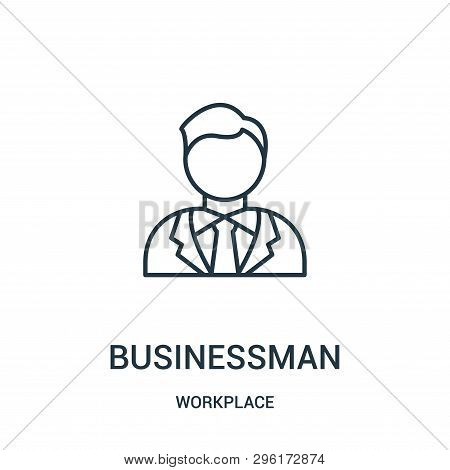 Businessman Icon Isolated On White Background From Workplace Collection. Businessman Icon Trendy And