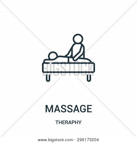 Massage Icon Isolated On White Background From Theraphy Collection. Massage Icon Trendy And Modern M