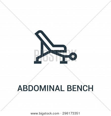 Abdominal Bench Icon Isolated On White Background From Gym Collection. Abdominal Bench Icon Trendy A