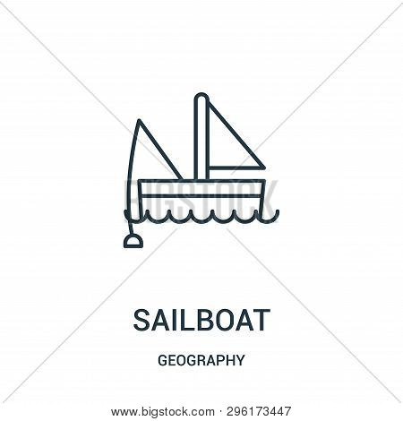 Sailboat Icon Isolated On White Background From Geography Collection. Sailboat Icon Trendy And Moder