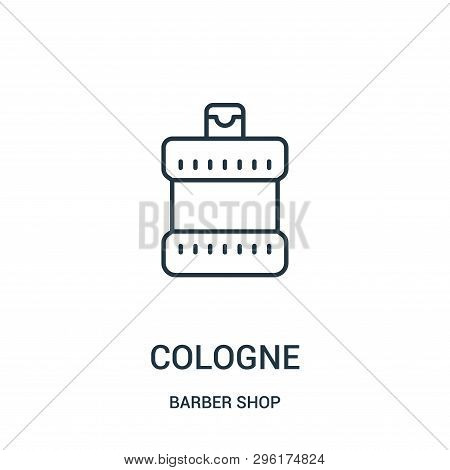 Cologne Icon Isolated On White Background From Barber Shop Collection. Cologne Icon Trendy And Moder