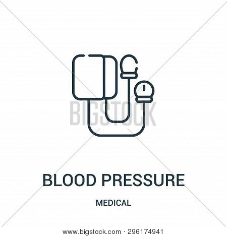 Blood Pressure Icon Isolated On White Background From Medical Collection. Blood Pressure Icon Trendy