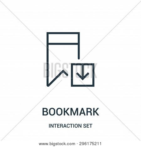 Bookmark Icon Isolated On White Background From Interaction Set Collection. Bookmark Icon Trendy And
