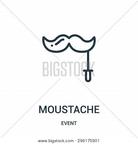Moustache Icon Isolated On White Background From Event Collection. Moustache Icon Trendy And Modern