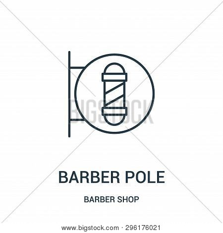 Barber Pole Icon Isolated On White Background From Barber Shop Collection. Barber Pole Icon Trendy A