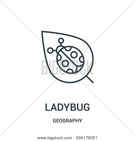 Ladybug Icon Isolated On White Background From Geography Collection. Ladybug Icon Trendy And Modern