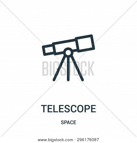 Telescope Icon Isolated On White Background From Space Collection. Telescope Icon Trendy And Modern