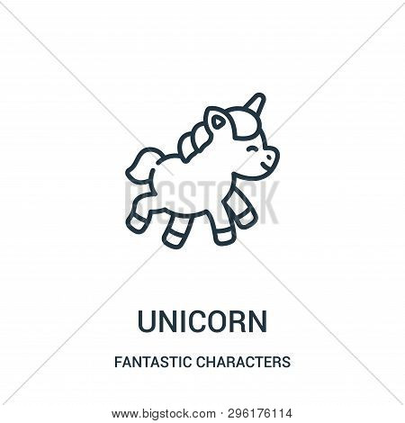 Unicorn Icon Isolated On White Background From Fantastic Characters Collection. Unicorn Icon Trendy