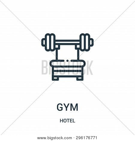 Gym Icon Isolated On White Background From Hotel Collection. Gym Icon Trendy And Modern Gym Symbol F