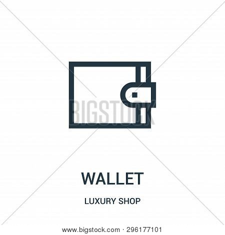 Wallet Icon Isolated On White Background From Luxury Shop Collection. Wallet Icon Trendy And Modern