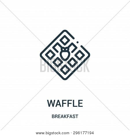 Waffle Icon Isolated On White Background From Breakfast Collection. Waffle Icon Trendy And Modern Wa