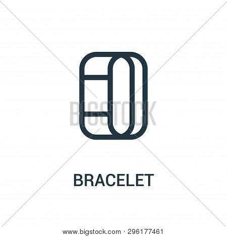 Bracelet Icon Isolated On White Background From Gym Collection. Bracelet Icon Trendy And Modern Brac