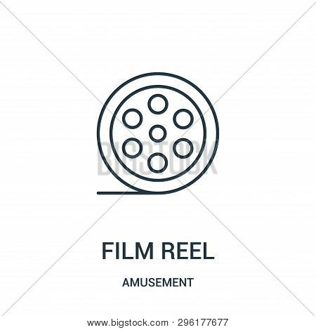 Film Reel Icon Isolated On White Background From Amusement Collection. Film Reel Icon Trendy And Mod
