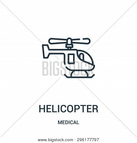 Helicopter Icon Isolated On White Background From Medical Collection. Helicopter Icon Trendy And Mod
