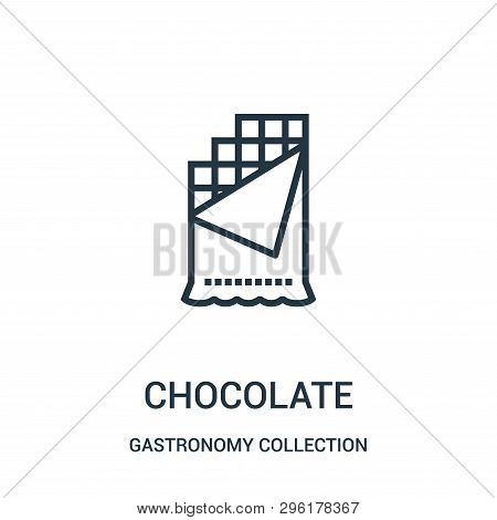 Chocolate Icon Isolated On White Background From Gastronomy Collection. Chocolate Icon Trendy And Mo