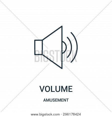 Volume Icon Isolated On White Background From Amusement Collection. Volume Icon Trendy And Modern Vo