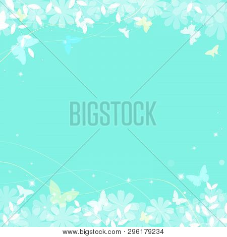 Abstract Spring Summer Background In Light Pastel Color With Copy Space, Environmental Theme With Bu