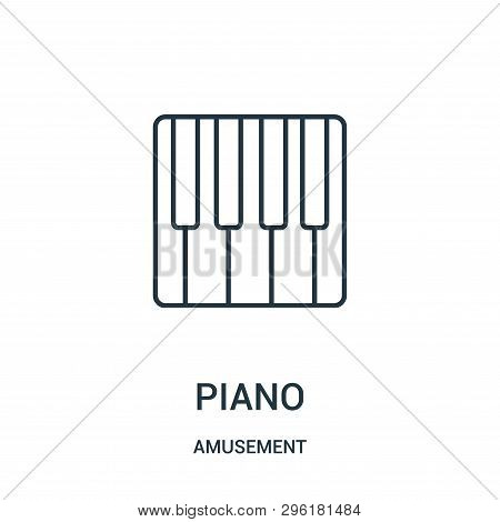 Piano Icon Isolated On White Background From Amusement Collection. Piano Icon Trendy And Modern Pian